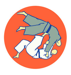 tomoe nage judo martial art vector image