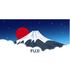 Travel to japan mountain vector