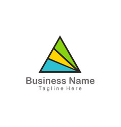 triangle shape abstract company business logo vector image