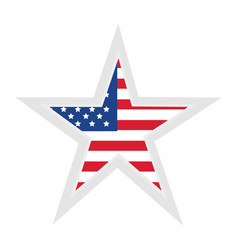united statae of america flag with star shape vector image