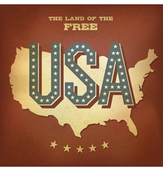 USA abstract retro poster design copy vector