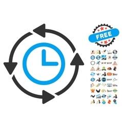 Wayback Clock Icon With 2017 Year Bonus Pictograms vector image