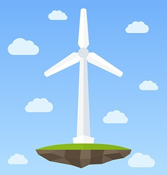 Wind energy turbine vector image