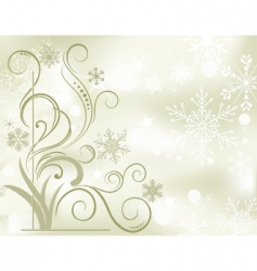 winter soft background vector image