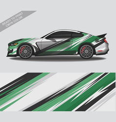 Wrap car decal design custom livery race rally vector