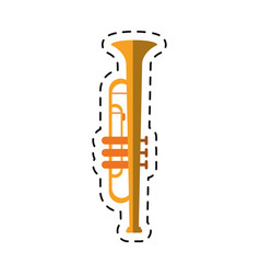 cartoon trumpet musician instrument icon vector image