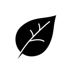 leaf icon black sign on vector image vector image