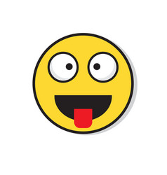 yellow smiling face laughing positive people vector image