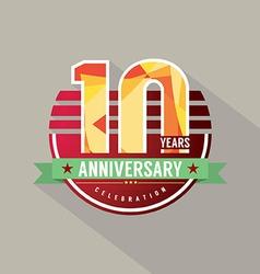10 Years Anniversary Celebration Design vector image
