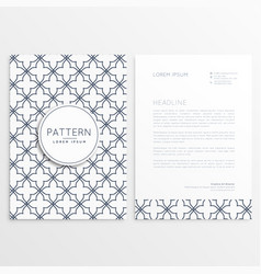abstract company leaflet template vector image vector image
