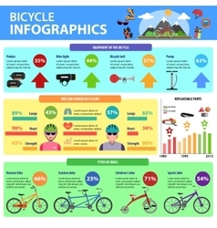 Bicycle Infographics Set vector image vector image