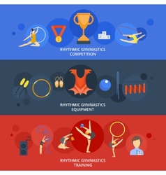 Gymnastics Banner Set vector image