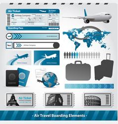 air travel design elements flight boarding vector image vector image