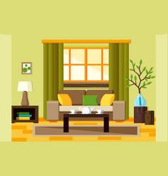 flat living room vector image