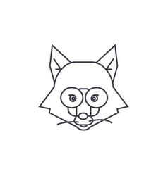 fox head sign line icon sign vector image