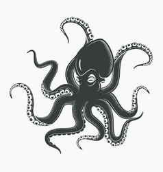 octopus tattoo or squid marine mascot vector image