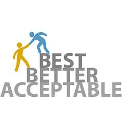 People help work up to better best vector