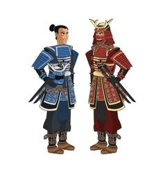 Samurai man cartoon design vector image