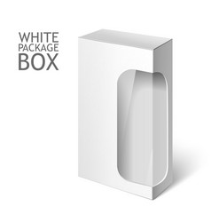 White Package Box with Window Mockup Template vector image vector image