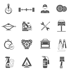 Car Service Icons Black vector image