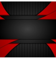 Dark red tech corporate abstract background vector image vector image