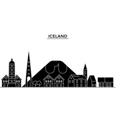 ice land architecture city skyline travel vector image