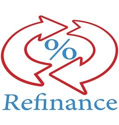 Refinance home mortgage loan icon symbol vector image