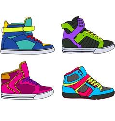 skateboarding shoes vector image vector image