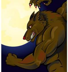werewolf attacking vector image