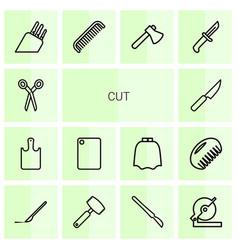 14 cut icons vector