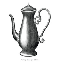 antique engraving moka pot black and white vector image