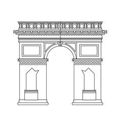 Arc of triomphe icon vector