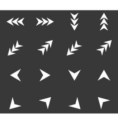 Arrow icon set 4 monochrome vector