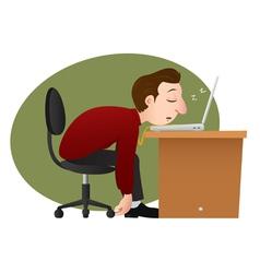 Asleep businessman vector