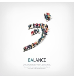 balance people sign 3d vector image