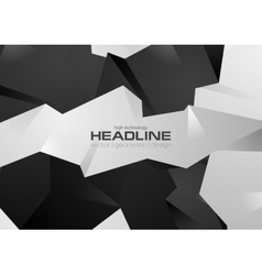 Black and white 3d polygonal shapes vector