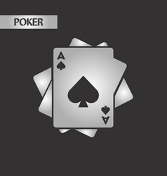 Black and white style playing cards vector