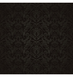 Black Seamless wallpaper pattern vector