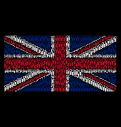 british flag collage of test tube items vector image