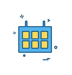 calender icon design vector image