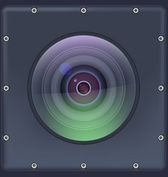 camera lens with protection action covered vector image