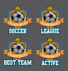 championship badge vector image