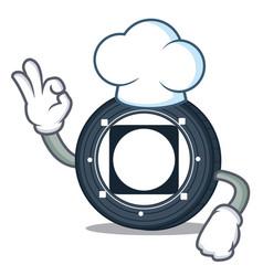 Chef byteball bytes coin character cartoon vector