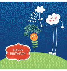 cute greeting card vector image vector image