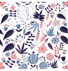 decorative seamless pattern with blooming meadow vector image