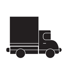 delivery truck black concept icon delivery vector image