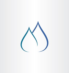 Drops of water gas flame icon vector