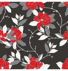 Elegance Seamless pattern with flowers rose and ma vector image