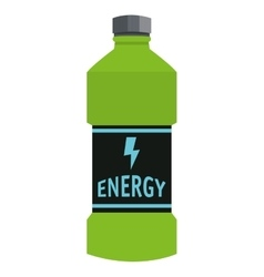Energy drink bottle icon vector