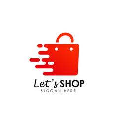 Fast shopping logo icon design lets shopping logo vector